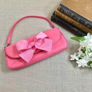 GIANI BERNINI Pink Grosgrain Bow Clutch Purse